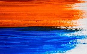 Picture Orange, Blue, Oil Paint