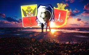 Wallpaper Football Club, Logo, Light, Pier, Black and blue, Blue, Odessa, Sea, Male, Child, Sailors, Club, ...
