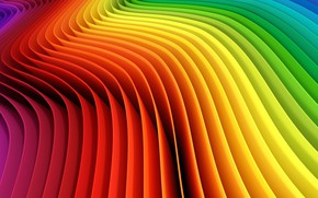 Wallpaper background, colored, wavy, Kolor, abstract, abstraction, background, rainbow, Rainbow