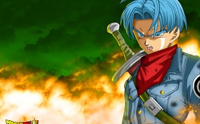 Picture sword, ken, blade, hero, asian, warrior, japanese, oriental, asiatic, Dragon Ball, strong, yuusha, Trunks, Dragon …