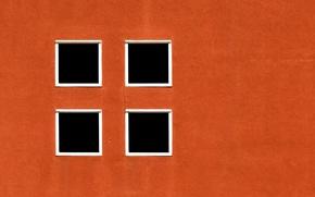 Picture wall, Windows, orange