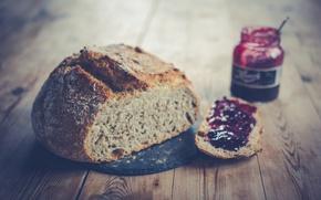 Picture food, bread, jam