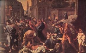 Picture Nicolas Poussin, classicism, The plague in Ashdod, The Plague Of Ashdod