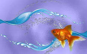 Picture SEA, MOOD, THE WALLPAPERS, GOLDFISH