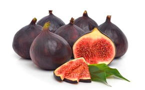 Wallpaper figs, the ripe fruit, the Fig tree, figs, fruit, white background