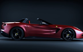 Picture design, car, The Ferrari Red Auto