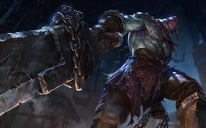 Picture the game, art, champion, sixmorevodka studio, Nightmare Tryndamere - League of Legends
