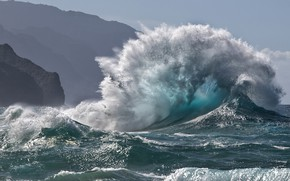 Picture sea, squirt, wave