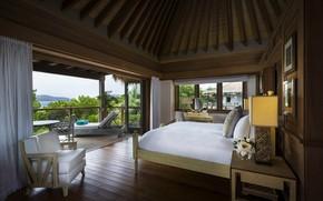 Picture interior, balcony, Bungalow, bedroom