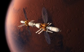 Picture space, surface, Mars, experimental apparatus, The base camp of Mars