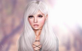 Picture background, blonde, cutie
