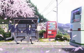 Picture anime, art, two, students, taka (tsmix)