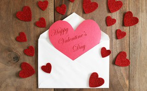 Picture letter, background, the inscription, heart, Board, hearts, red, Valentine's day, the envelope, congratulations, Happy Valentine's …