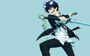 Picture guy, Rin, ao no exorcist, Rin okumura, poludemon, Okumura Rin, Blue Exorcist