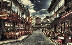 Picture HDR, Cafe, Street, Istanbul, Turkey, Street, Istanbul, Turkey, Kafe