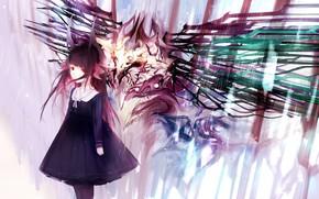 Picture girl, monster, art
