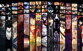 Wallpaper game, Death Note, Naruto, Anime, Fate/Stay Night, One Piece, pirate, alien, crossover, ninja, asian, Angel ...