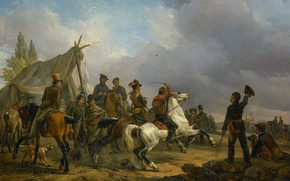 Picture tree, oil, picture, Joseph Moerenhout, Running Trotters