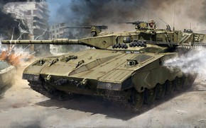 Picture chariot, main battle tank, Israel, Merkava Mk.1, Merkava Mk.1