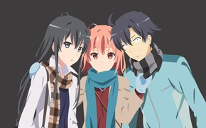 Picture anime, boy, manga, scarf, japonese, by haalhady, Yahari Ore no Seishun Love Comedy wa Machigatteiru, …