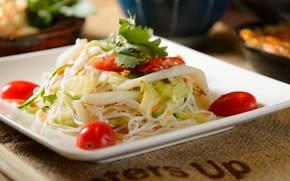 Picture tomato, cabbage, salad, Cheri