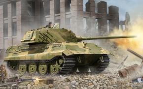 Picture King tiger, Panzerkampfwagen VI Ausf. B, Tiger II, Royal tiger, German heavy tank