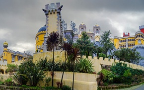 Picture Portugal, architecture, The Pena Palace, Sintra