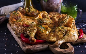 Picture chicken, meat, pepper, spices