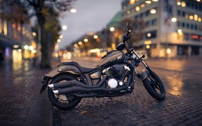 Picture the city, style, the evening, motorcycle, bike