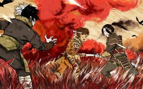 Picture blood, the battle, Naruto, war, dead, katana, brothers, Uchiha, kids, Senju, Kawarama Senju, Itama Senju, …