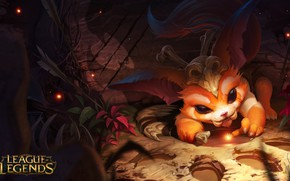 Picture the game, art, League of Legends, LoL, Gnar, Alex Flores, Gnar, the Missing Link