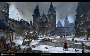 Picture Paris, snow, Iron Blade, Environment Concept