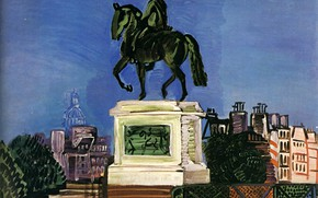 Picture New York, 1926, Huile sur Toile, Raoul Dufy, Perls Galleries, Gallant green, The vert Galant