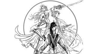 Picture black and white, style, comic, manga, random, Stjepan Sejic, chicks, Nebezial