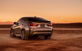Picture design, background, rear view, BMW X6M