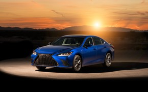 Picture sunset, Lexus, sedan, 2019, F SPORT, ES 350