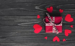 Wallpaper Gift, Holiday, Day Svatovo Valentine, Valentine's day, Hearts