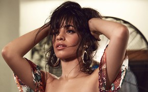 Picture decoration, pose, makeup, hairstyle, singer, brown hair, Camila Hair