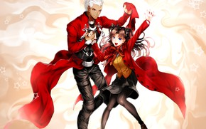 Picture two, Rin, Archer, Fate stay night, Fate / Stay Night