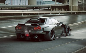 Wallpaper Nissan, Car, Skyline, Tuning, Future, R34, Rear, by Khyzyl Saleem