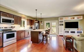 Picture furniture, interior, kitchen, mansion