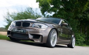 Picture road, trees, speed, Bmw, g-power-g1-v8