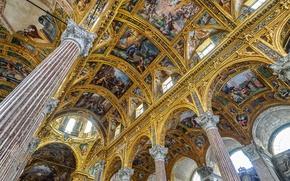 Wallpaper Italy, Basilica, Genoa, Santissima Annunziata del Vastato