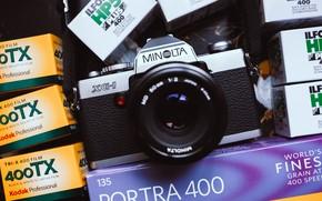 Picture the camera, lens, Minolta