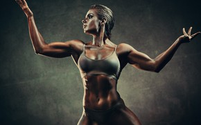 Picture art, muscles, pose, fitness