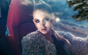 Picture look, girl, face, model, makeup, Catherine, Anton Kharisov, Katrin Sarkozy
