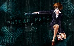 Picture anime, art, guy, psycho-pass, Psychoport