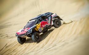 Picture Sand, Auto, Sport, Machine, Speed, Race, Peugeot, Lights, Red Bull, 308, Rally, Dakar, Dakar, SUV, …