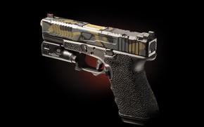 Picture macro, gun, background, glock