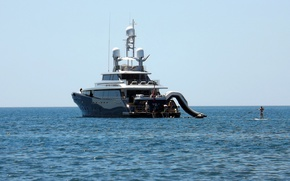 Picture SEA, HORIZON, STAY, BLACK, YACHT, RESORT, DECK, The SHIP, SLIDE, KISS